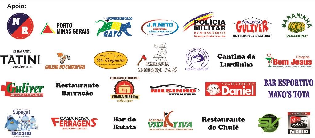 Parceiros da 10ª Corrida Rustica de Sapucaí-Mirim